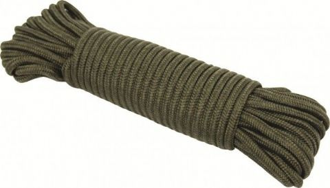 Highlander Olive Utility Rope 15M x 5MM - 15 Metres - Green Cord